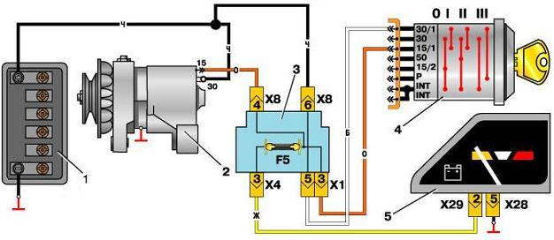 Схема реле зарядки ваз 2101 фото 924