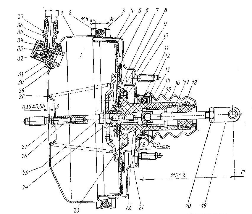 Фото №4 - как отрегулировать шток вакуумного усилителя тормозов ВАЗ 2110