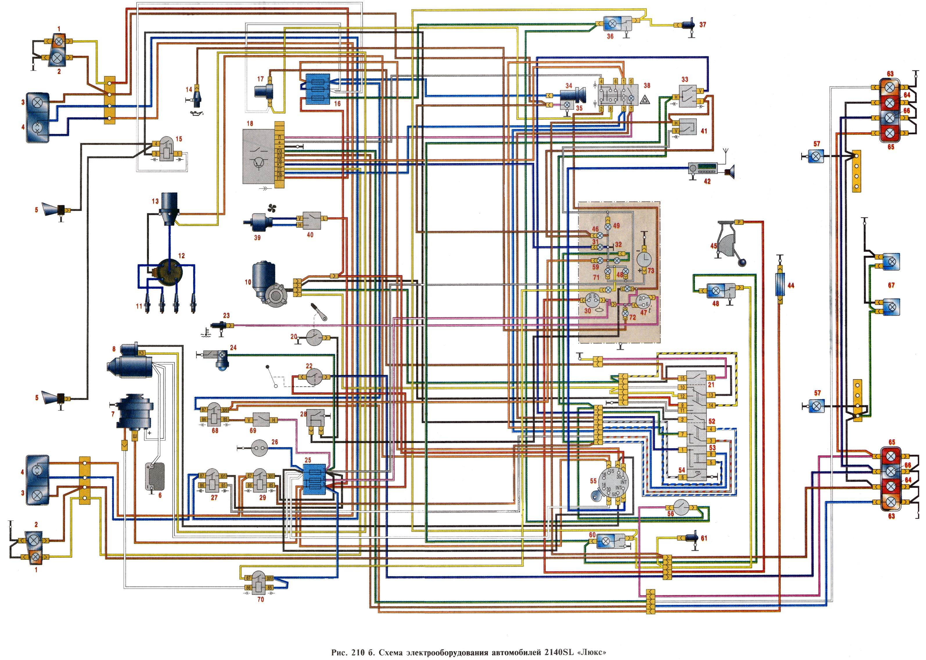 Проводка москвич 412 схема подключения