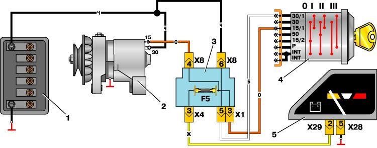 Схема генератор на иж